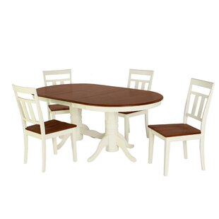 Bellino 5 Piece Drop Leaf Solid Wood Dining Set August Grove