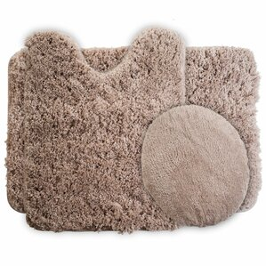 3 Piece Super Plush Non Slip Bath Rug Set