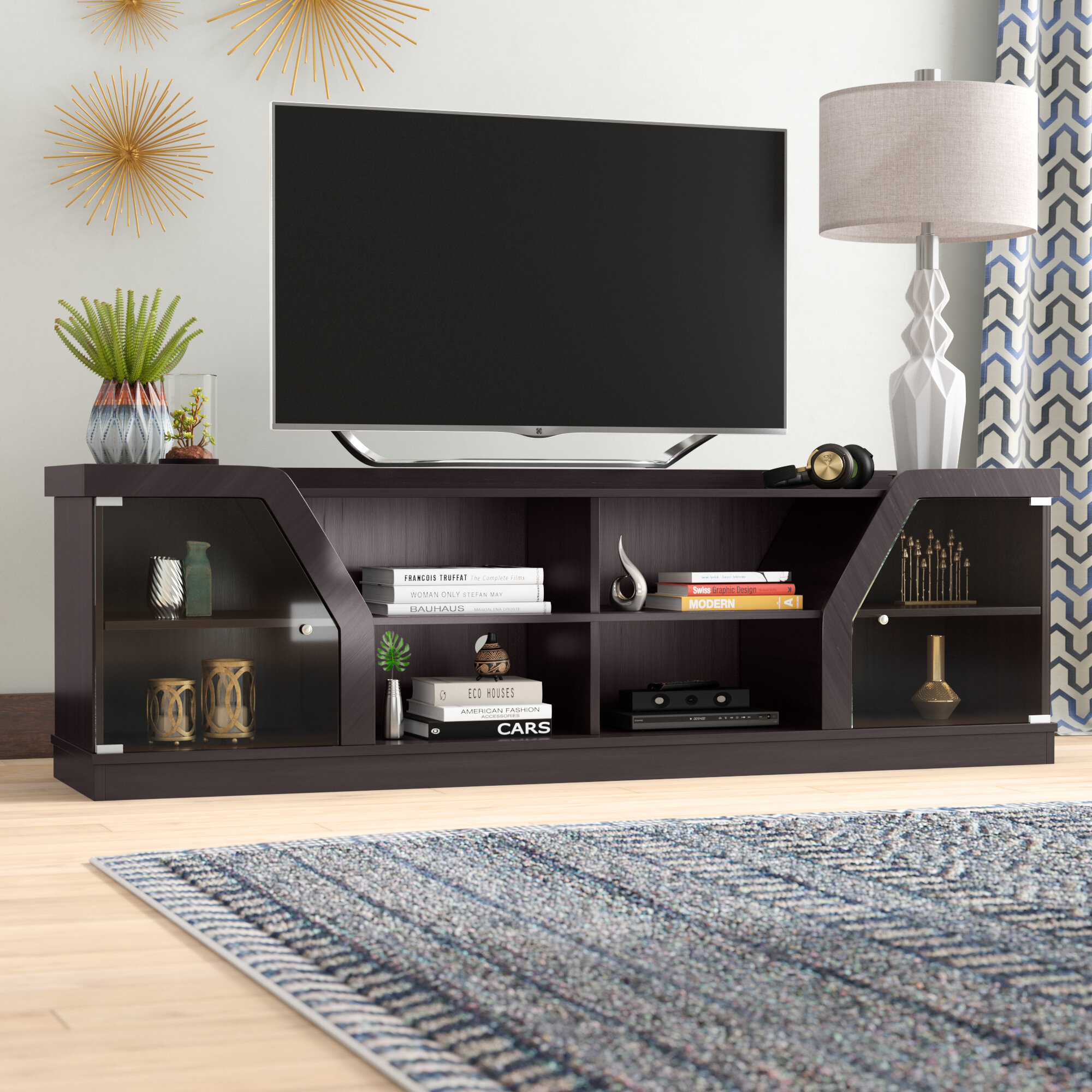 Picture of: Ebern Designs Oxfordshire Tv Stand For Tvs Up To 78 Reviews
