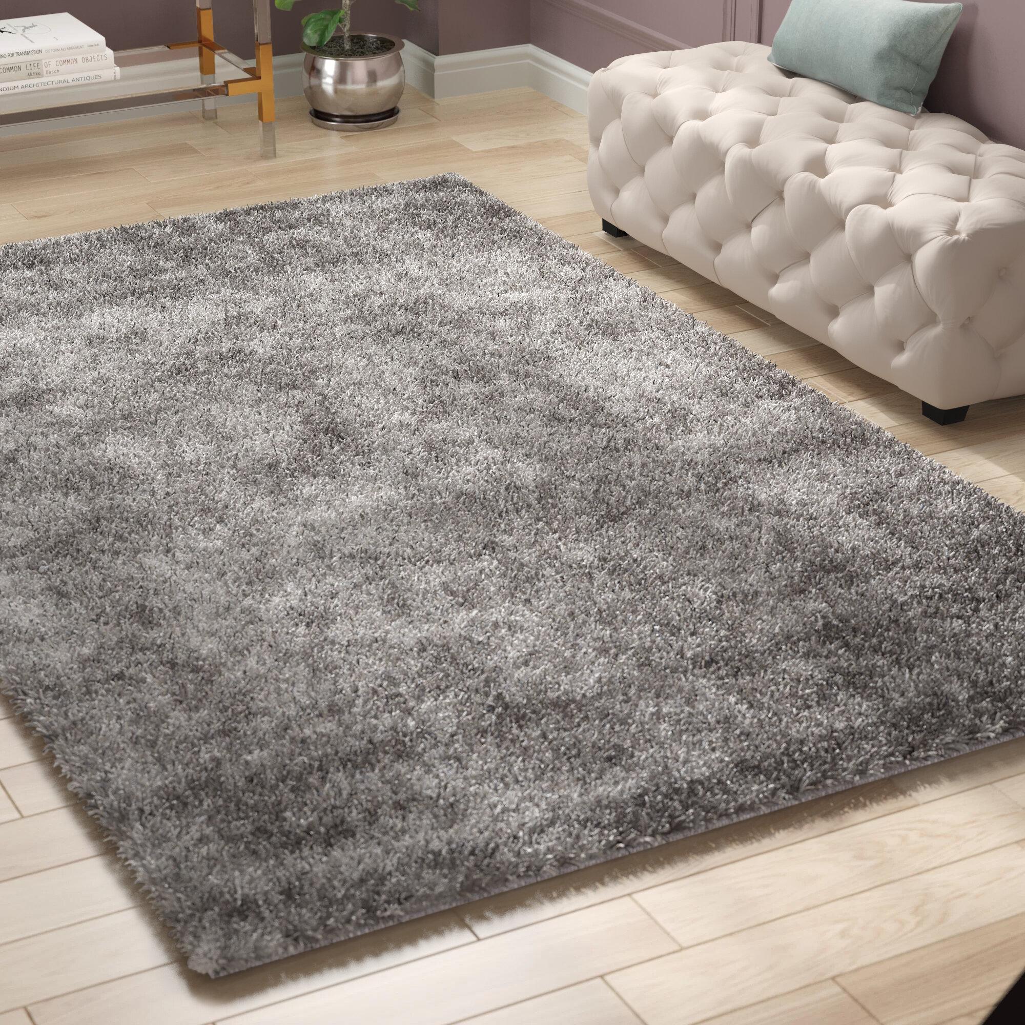 Willa Arlo Interiors Kater Handmade Tufted Gray Area Rug Reviews Wayfair