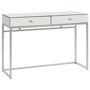 Mirrored Glass And Steel Console Table By Willa Arlo Interiors
