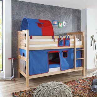 Florus European Single Bunk Bed With Curtain, Tunnel And Pocket By Zoomie Kids
