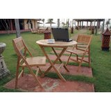 Bourassa 3 Piece Teak Bistro Set