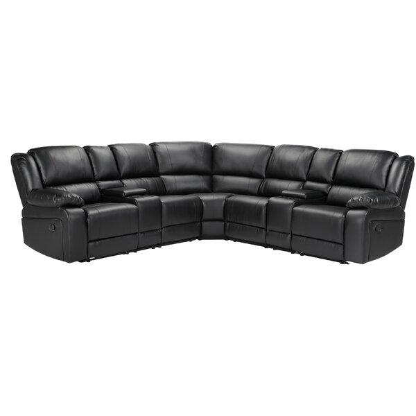 Latitude Run Procida 108 25 Wide Faux Leather Symmetrical Reclining Corner Sectional Wayfair