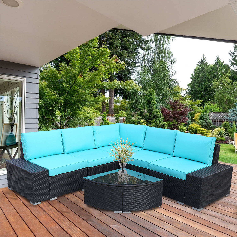Pe Rattan Wicker Sofa Sectional
