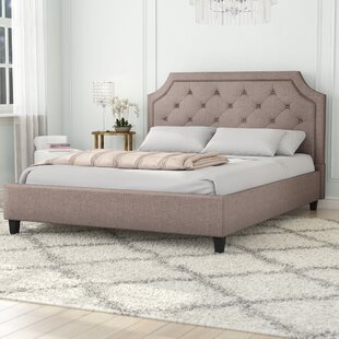 Lamar Nailhead Trim Upholstered Platform Bed