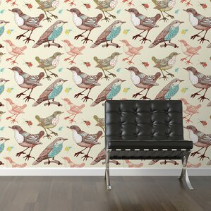 Wallpaper With Birds wallpaper with birds | wayfair