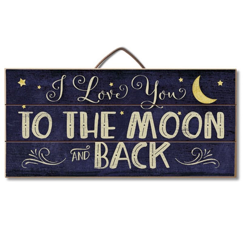 Harriet Bee I Love You To The Moon Horizontal Pallet Wood Sign Wall Décor Wayfair