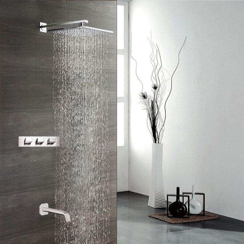 Fontanashowers Sita Platinum Led Multi Function Fixed Shower Head