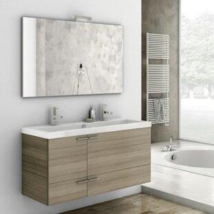 Best Choices New Space 47 Single Bathroom Vanity Set with Mirror ByACF Bathroom Vanities