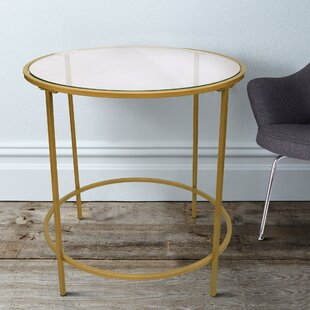 Dubay Round Metal Framed End Table by Mercer41