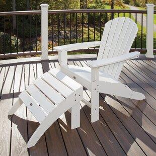 Trex Wood Folding Adirondack Chair with Ottoman