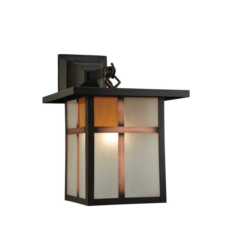 Meyda Tiffany 1 Light Outdoor Wall Lantern Wayfair