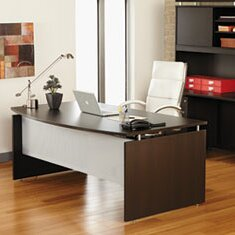 Jacobo Bow Front Executive Desk Shell by Symple Stuff Coupon