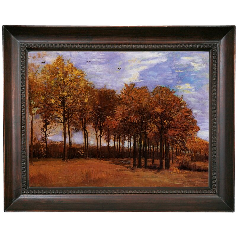 Autumn Landscape with Four Trees by Vincent van Gogh  Giclee Canvas Print Repro
