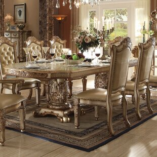 Welles Traditional Extendable Dining Tabl..