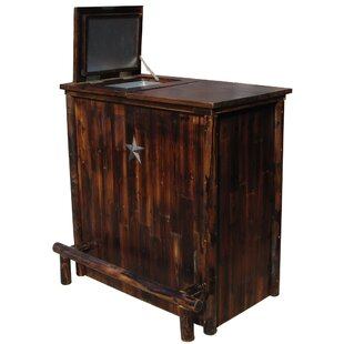Millwood Pines Aldrich Bar Cabinet with Cooler