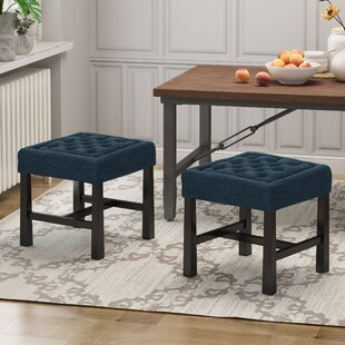 Stackpole Backless 2 Piece Vanity Stool Set (Set of 2) by Charlton Home