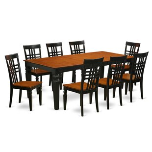 Beesley 9 Piece Wood Dining Set DarHome Co