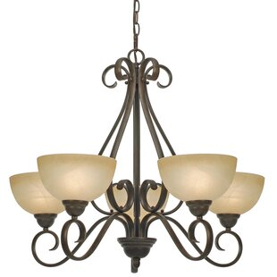 Top Reviews Foxburg 5-Light Shaded Chandelier By Red Barrel Studio