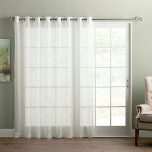 Wayfair Basics Sliding Door Patio Solid Semi-Sheer Grommet Single Curtain Panel by Wayfair Basics™
