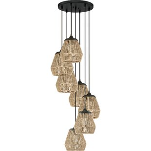 Trace 7-Light Cluster Pendant by Bay Isle Home