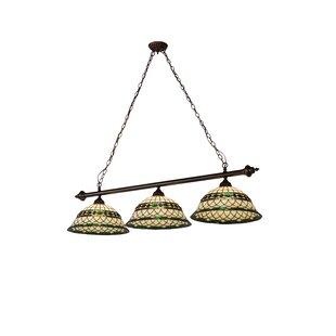 Meyda Tiffany Greenbriar Oak 3-Light Kitchen Island Pendant