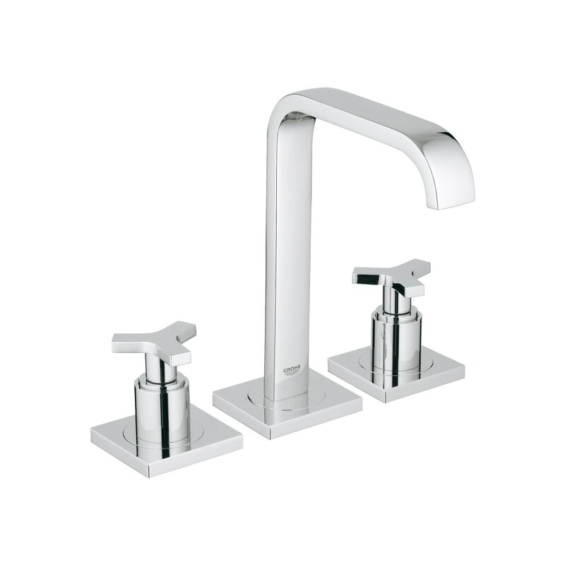 GROHE Allure Widespread Bathroom Faucet with Drain Assembly