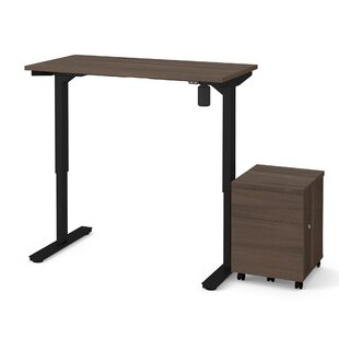 Clare 2-Piece Electric Height Adjustable Desk Office Suite