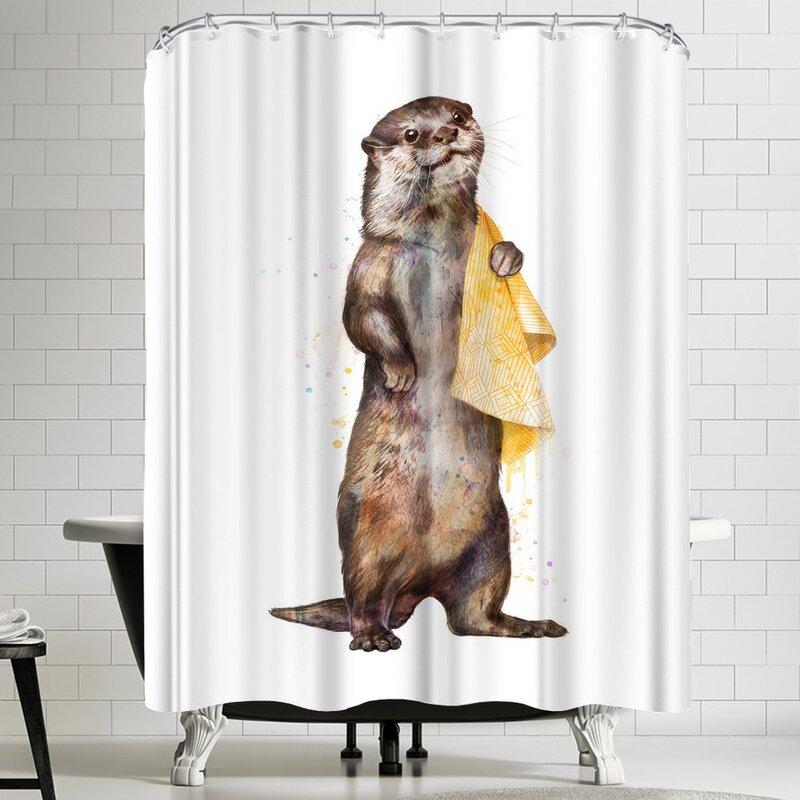 Laura Graves Otter Shower Curtain