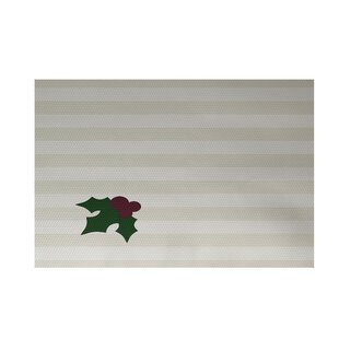 Buy Holly Tones Decorative Holiday Stripe Print Ivory Cream Indoor/Outdoor Area Rug By The Holiday Aisle