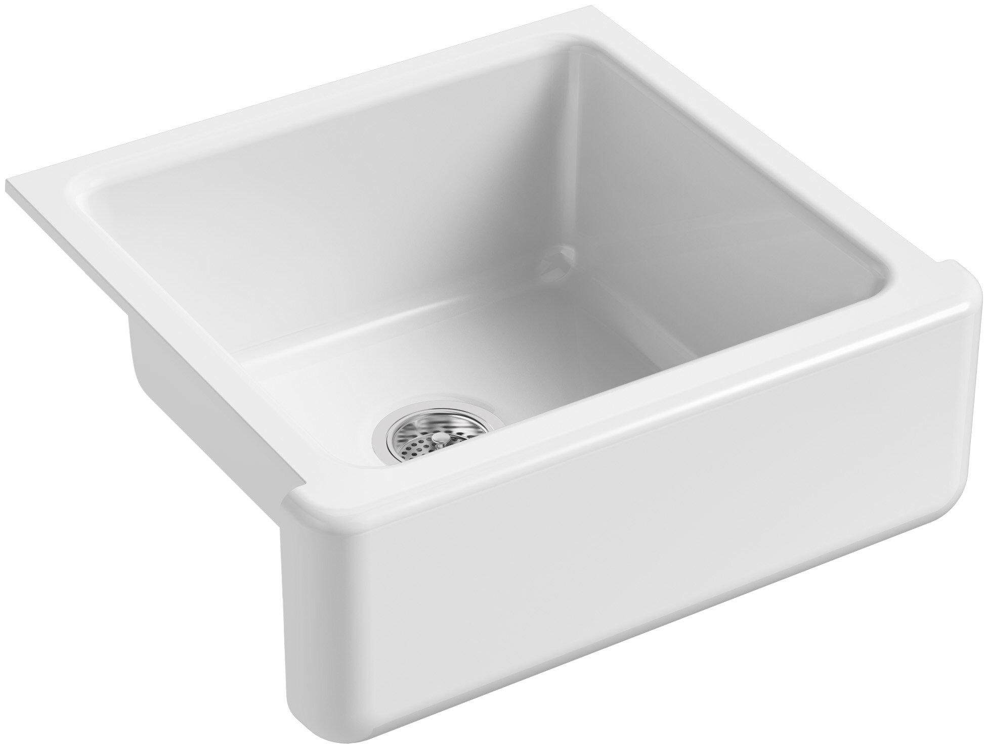 K 5665 0 Fd Kohler Whitehaven Self Trimming 24 L X 22 W Undermount Kitchen Sink Reviews Wayfair