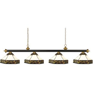 Billington 4-Light Pool Table Lights Pendant by Fleur De Lis Living