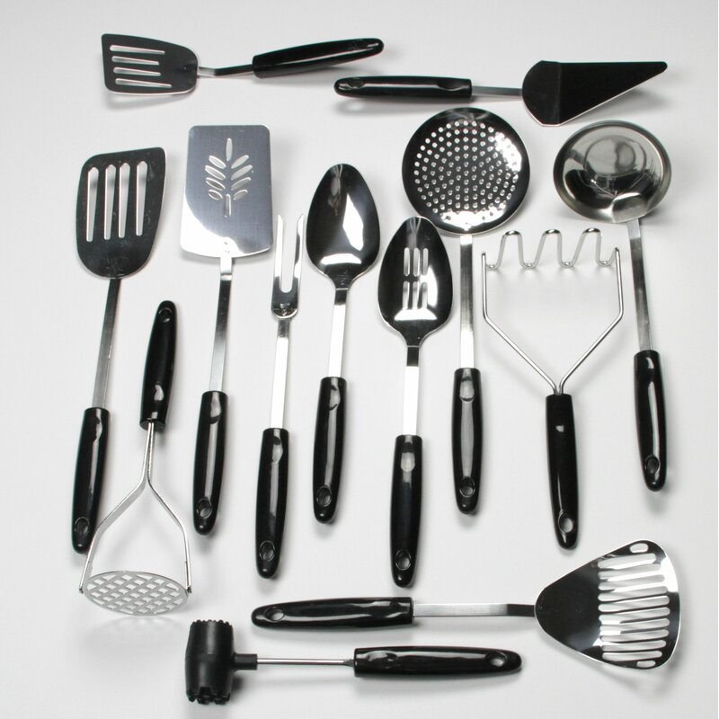 Chef Craft 13 Piece Select Stainless Steel Kitchen Utensil Set