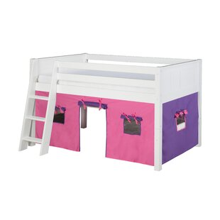 Oakwood Twin Pine Wood Low Loft Bed