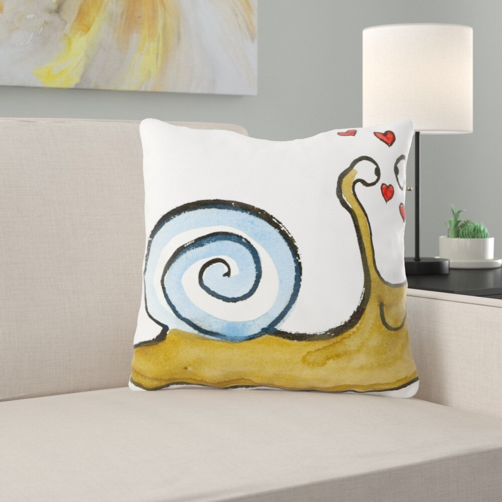 Ebern Designs Brooker Snail Throw Pillow Wayfair