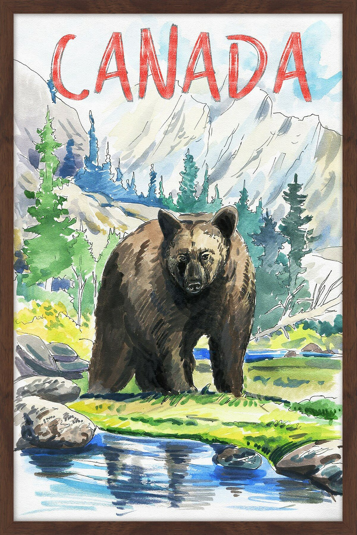 Marmont Hill Quot Black Bear Canada Quot Framed Painting Print