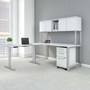 Bush Business Furniture 400 Series L-Shaped Desk Office Suite