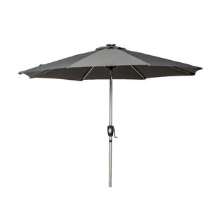 Creager 2.7m Traditional Parasol With Lights By Sol 72 Outdoor