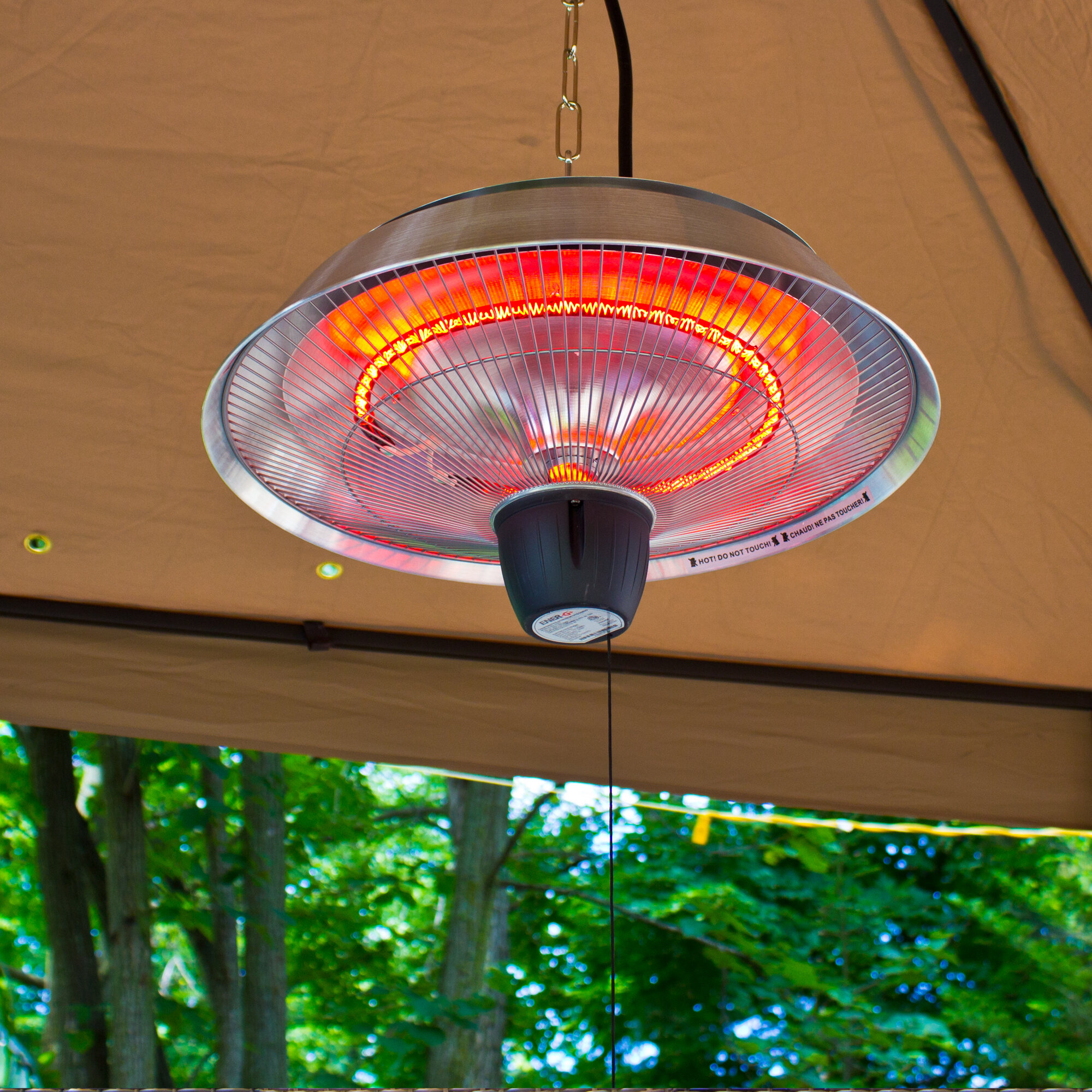 EnerG 1500 Watt Electric Hanging Patio Heater & Reviews