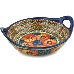 Bright Beauty Serving Bowl with Handles