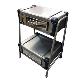 Tall Brushed Silver Ladder Suitcase 3 Drawer Chest By Williston Forge