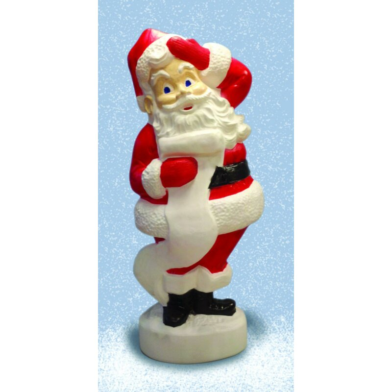 The Holiday Aisle Santa Blow Mold Resin Christmas Decoration Wayfair