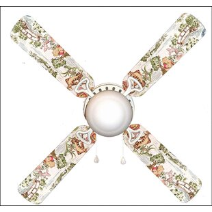 42 Winnie the Pooh Blustery Day 4 Blade Ceiling Fan, Light Kit Included by 888 Cool Fans