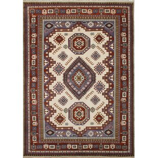 One Of A Kind Femke Hand Knotted 9 X 13 11 Wool Red Ivory Blue Area Rug
