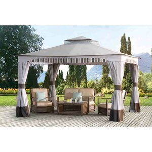 Graypointe 12 Ft. W x 10 Ft. D Metal Permanent Gazebo