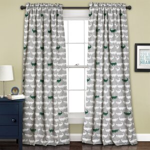 Jim Camouflage Blackout Thermal Rod Pocket Single Curtain Panel
