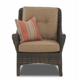 Fleur De Lis Living Rouse Patio Chair wit..