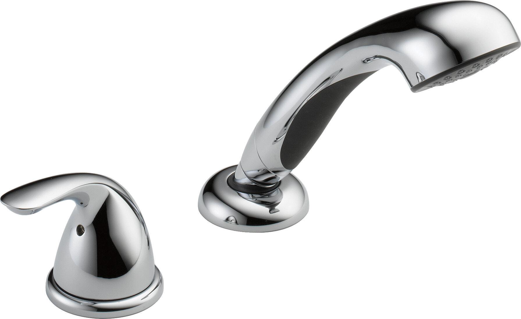 Delta Classic Single Handle Deck Mount Roman Tub Faucet | Wayfair