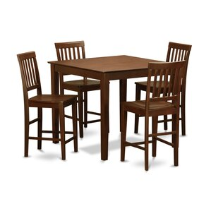 5 Piece Counter Height Pub Table Set by Wooden I..